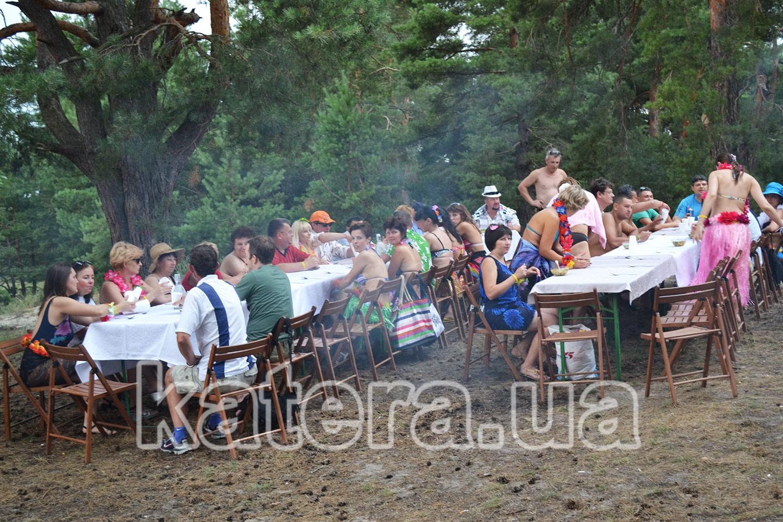Пикник на острове Великий под Киевом
