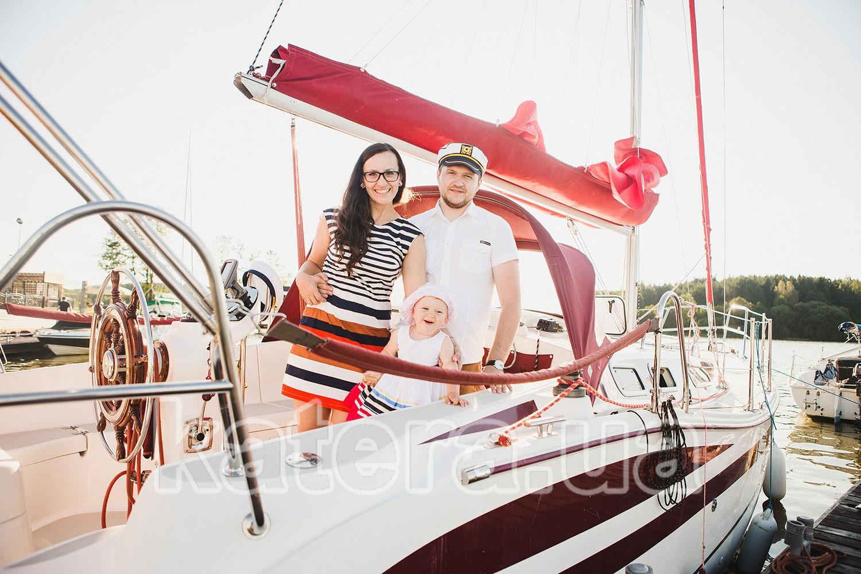 Отдых на яхте в Киеве с семьей