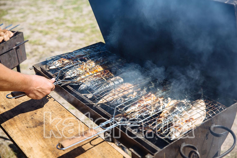 Аппетитная рыба на мангале - katera.ua