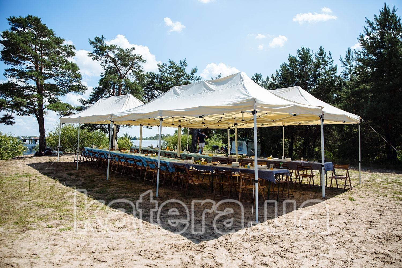 Площадка для пикника из 4-х тентов на острове Великий - katera.ua