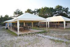 Площадка с шатрами на острове Великий - Katera.ua