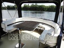 Летняя терраса с тентом в корме на яхте Sea Wave - Katera.ua