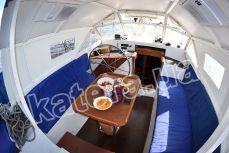 Летняя площадка со столом на верхней палубе яхты Яна - Katera.ua