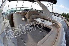Диван и стол в кокпите на яхте Chaparral 350 - Katera.ua