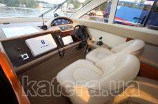 Капитанский мостик в салоне на яхте Принцесса 45 - Katera.ua